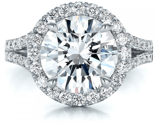 Round Halo Engagement Ring - Vanessa Nicole Jewels