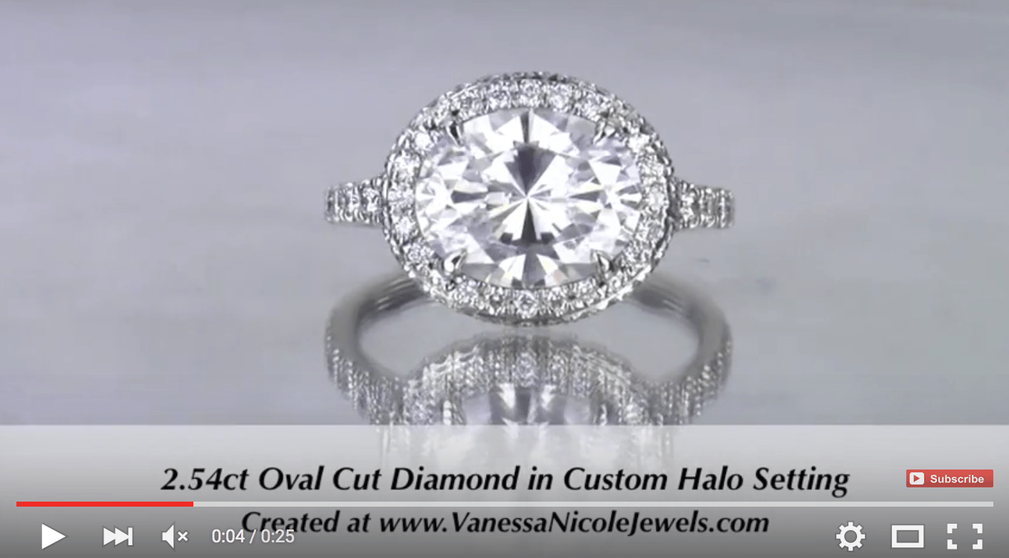 2.54ct Oval Diamond with Halo & Side Halo for Jaslynn & Gerrit