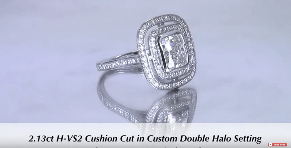 2ct Cushion Cut Diamond Engagement Ring for Megan