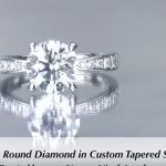 1.90ct Tapered Diamond Engagement Ring