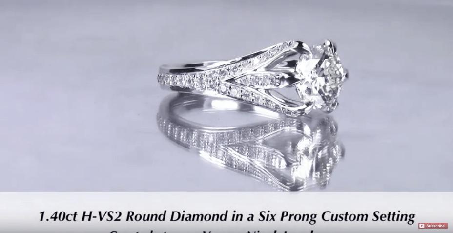 1.40ct 6 prong Diamond Engagement Ring